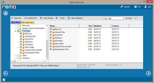 PowerPoint Recovery Tool - Recovered Files